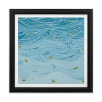 golden paper ships - black-square-framed-print - small view