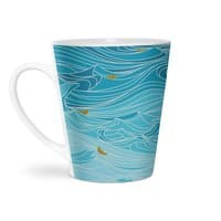 golden paper ships - latte-mug - small view