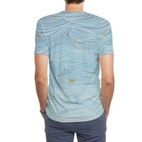 golden paper ships - mens-sublimated-triblend-tee - small view