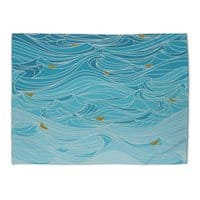 golden paper ships - rug-landscape - small view