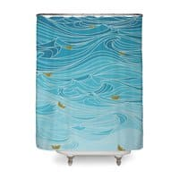 golden paper ships - shower-curtain - small view