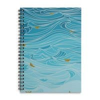 golden paper ships - spiral-notebook - small view