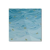 golden paper ships - square-mounted-aluminum-print - small view