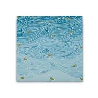 golden paper ships - square-stretched-canvas - small view