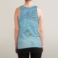 golden paper ships - sublimated-tank - small view