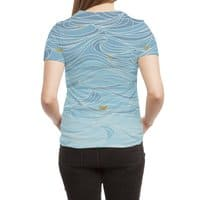 golden paper ships - womens-sublimated-triblend-tee - small view