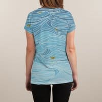 golden paper ships - womens-sublimated-v-neck - small view