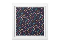 Hectic Rain - white-square-framed-print - small view