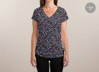 Hectic Rain - womens-sublimated-v-neck - small view