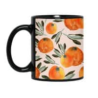 Sonnige Orange  - black-mug - small view