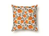 Sonnige Orange  - throw-pillow - small view