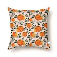 Sonnige Orange  - throw-pillow - small view