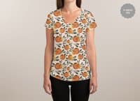 Sonnige Orange  - womens-sublimated-v-neck - small view