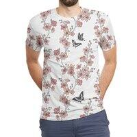 Sakura Butterflies - mens-sublimated-triblend-tee - small view