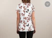 Sakura Butterflies - womens-sublimated-v-neck - small view