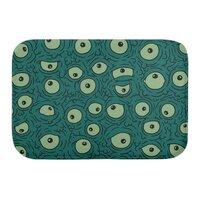 Green Googly Eyes - bath-mat - small view