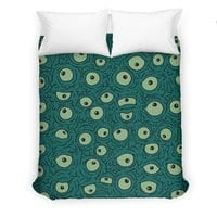 Green Googly Eyes - duvet-cover - small view