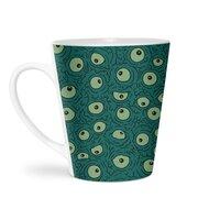 Green Googly Eyes - latte-mug - small view
