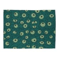 Green Googly Eyes - rug-landscape - small view