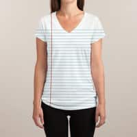 Foot Loose Leaf - womens-sublimated-v-neck - small view
