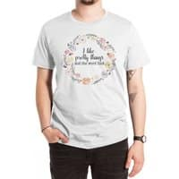 I like pretty things and the word fuck. - mens-extra-soft-tee - small view
