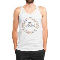 I like pretty things and the word fuck. - mens-jersey-tank - small view