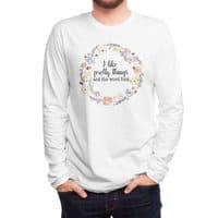 I like pretty things and the word fuck. - mens-long-sleeve-tee - small view