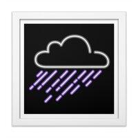 Purple Rain - white-square-framed-print - small view