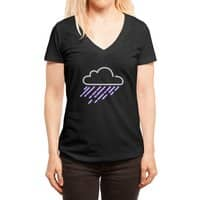 Purple Rain - womens-deep-v-neck - small view