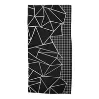 Ab Outline Grid on Side Black - beach-towel - small view