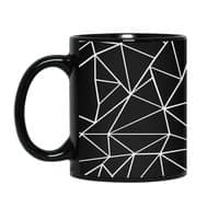 Ab Outline Grid on Side Black - black-mug - small view