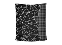 Ab Outline Grid on Side Black - indoor-wall-tapestry-vertical - small view