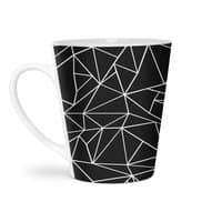 Ab Outline Grid on Side Black - latte-mug - small view