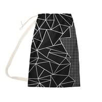 Ab Outline Grid on Side Black - laundry-bag - small view