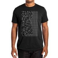 Ab Outline Grid on Side Black - mens-extra-soft-tee - small view