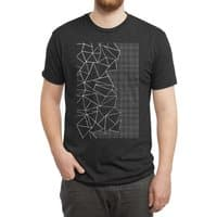 Ab Outline Grid on Side Black - mens-triblend-tee - small view