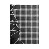 Ab Outline Grid on Side Black - notebook - small view