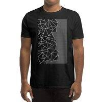 Ab Outline Grid on Side Black - mens-regular-tee - small view