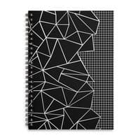 Ab Outline Grid on Side Black - spiral-notebook - small view