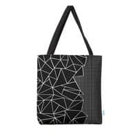 Ab Outline Grid on Side Black - tote-bag - small view