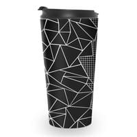 Ab Outline Grid on Side Black - travel-mug - small view