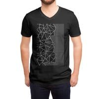 Ab Outline Grid on Side Black - vneck - small view