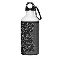 Ab Outline Grid on Side Black - water-bottle - small view