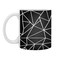Ab Outline Grid on Side Black - white-mug - small view