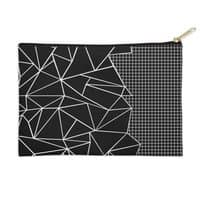 Ab Outline Grid on Side Black - zip-pouch - small view