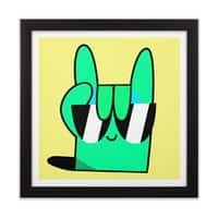 Stay Cool - black-square-framed-print - small view