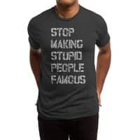 Stop Making Stupid People Famous - mens-triblend-tee - small view