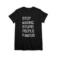 Stop Making Stupid People Famous - womens-premium-tee - small view