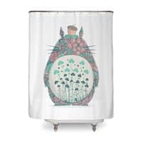 Unexpected Encounter - shower-curtain - small view