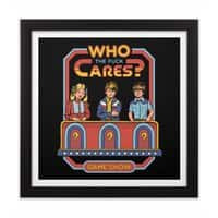 Who Cares? - black-square-framed-print - small view